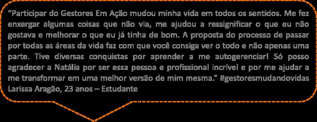 Comentário Larissa Aragão